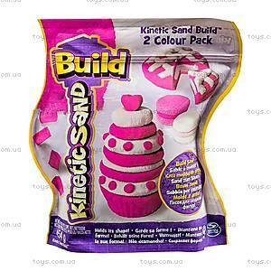 Песок для творчества Kinetic Sand Build, 71428WPn