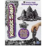 Песок для детского творчества Kinetic Sand Metallic, черный, 71408On, купить
