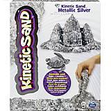 Песок для детского творчества Kinetic Sand Metallic, серебряный, 71408S, фото