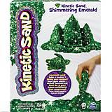 Песок для детского творчества Kinetic Sand Metallic, зеленый, 71408Em