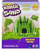 Песок для детского творчества Kinetic Sand, зеленый, 71409G, фото