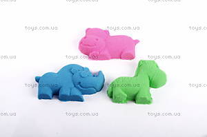 Песок для игры «Джунгли» с формочками, розовый, MS002P, купить