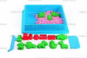 Песок для игры «Джунгли» с формочками, розовый, MS002P, фото