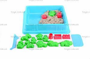 Песок для игры «Джунгли» с формочками, серый, MS002G, купить