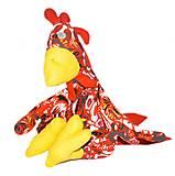 Петух сидячий с крыльями Гога (красный), ПРО-01-03, фото