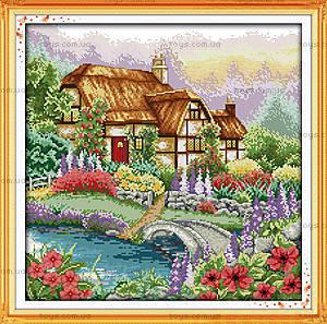 Пейзаж «Цветущий домик», F205