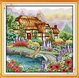 Пейзаж «Цветущий домик», F205, фото