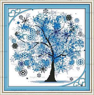 Пейзаж «Дерево счастья» вышивка, F371
