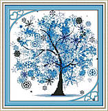 Пейзаж «Дерево счастья» вышивка, F371, отзывы