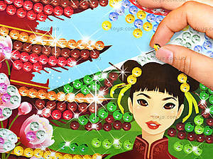 Пейзаж из пайеток «Цветение сакуры», 4735, купить