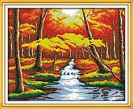 Пейзаж «Золотая осень», F183, фото