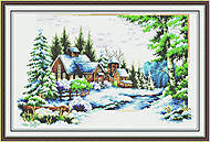 Пейзаж «Зима», F051, фото