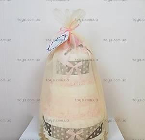 Торт из подгузников для девочки Pink chocolate, BH27, купить