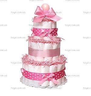 Торт из памперсов Pink, PPC28