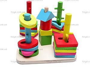 Пирамидка деревянная «Геометрик» , W02-4443, купить