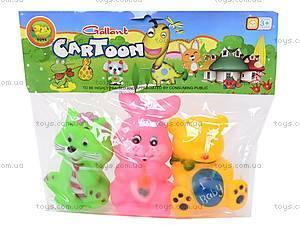 Пищалки «Зверьки», 5340, детские игрушки
