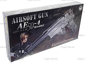 Игрушечный пистолет с пульками, в коробке, AE50-4, детские игрушки