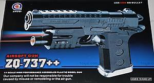 Пистолет Airsoft Gun, с лазерным прицелом, ZQ-737++