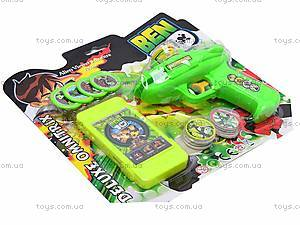 Пистолет Ben10, 3318D, игрушки