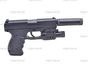 Пистолет Gun, с глушителем, 041G, купить