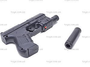Пистолет Gun, с глушителем, 041G, фото