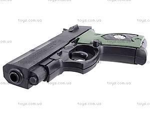Пистолет игрушечный с пулями, 08702A, toys