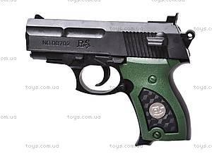 Пистолет игрушечный с пулями, 08702A, купить