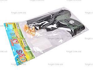 Пистолет игрушечный с пулями, 08702A, детские игрушки