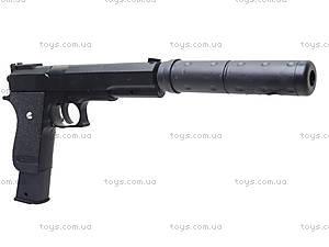 Детский пистолет c глушителем, K2011-K+, цена