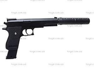 Детский пистолет c глушителем, K2011-K+, детские игрушки