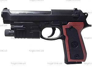 Детский пистолет с пульками и лазером, M-163A1, купить