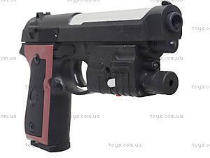 Детский пистолет с пульками и лазером, M-163A1, цена