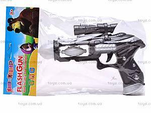 Пистолет музыкальный светящийся, 011-5, игрушки