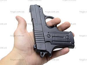 Пистолет с пульками и глушителем, P008C, игрушки