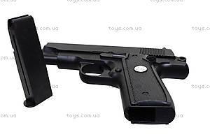 Игрушечный металлический пистолет на пулях, P.16, цена