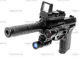 Пистолет, с лазером и пульками, SP2022
