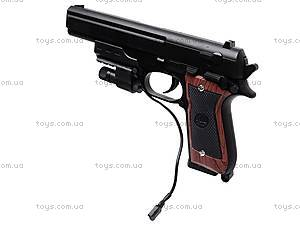 Пистолет с лазером и пульками, 301A (800255), купить