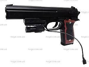 Пистолет с лазером и пульками, 301A (800255), цена