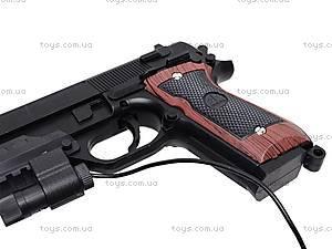 Пистолет с лазером и пульками, 301A (800255), игрушки