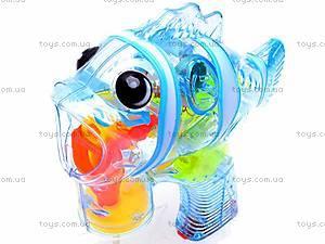 Пистолет с мыльными пузырями «Рыбка», 00338B, детские игрушки