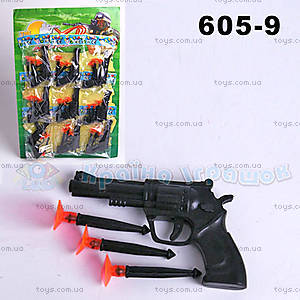 Пистолет, с присосками, 605-9