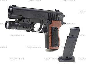 Пистолет с пульками и подсветкой, SP-3C+, купить