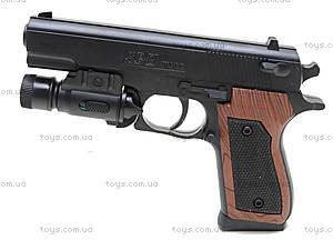 Пистолет с пульками и подсветкой, SP-3C+, детские игрушки