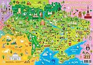 """Плакат """"Детская карта Украины"""", 92804, Украина"""