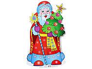 Плакат новогодний «Дед Мороз», 653315105093У, toys.com.ua