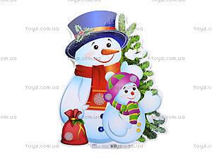 Плакат новогодний «Снеговик», 653515105086У