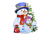 Плакат новогодний «Снеговик», 653515105086У, купить