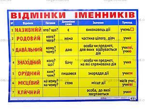 Плакат «Падежи имен существительных», 0124
