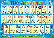 Плакат с английским прописным алфавитом, 0128, фото