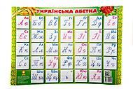 Плакат с украинским алфавитом, 85636, отзывы